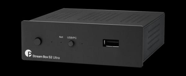 Stream Box S2 Ultra Audio optimierte Netzwerk-Brücke und USB Detox Gerät Schwarz von Pro-Ject