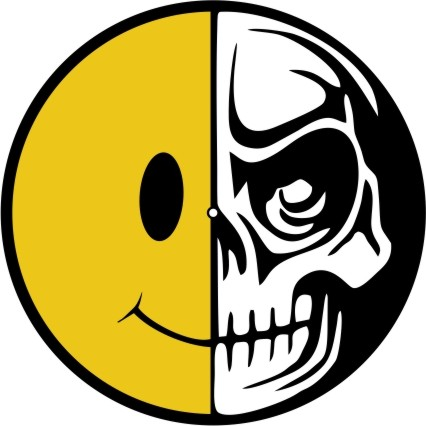 Slipmat Smile Skull