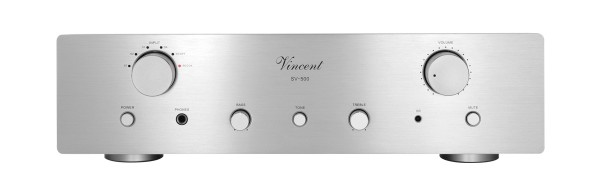 Vincent Hybrid Stereo Vollverstärker SV-500 silber