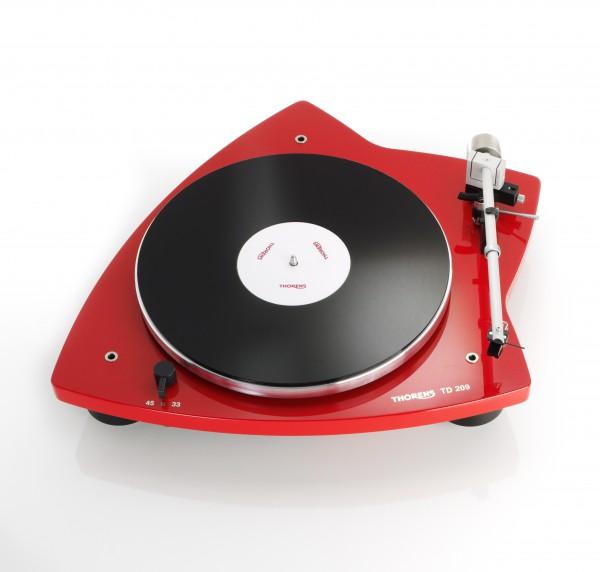 Thorens TD 209 Plattenspieler rot