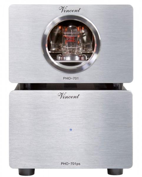 Vincent Phono-Vorverstärker PHO-701 silber -Rückläufer ohne Schäden-