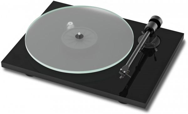 Plattenspieler T1 BT mit Ortofon OM 5 E hochglanz schwarz von Pro-Ject