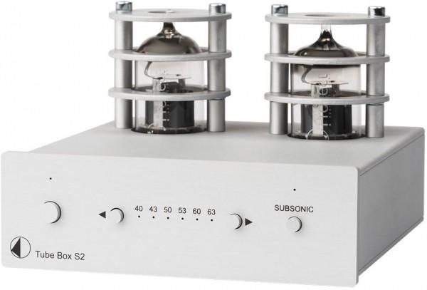 Tube Box S2 High End Röhren Phono-Vorverstärker von Pro-Ject silber