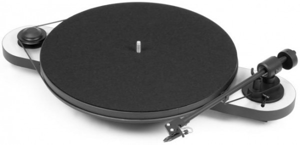 Plattenspieler Elemental mit Ortofon OM 5 E glänzend weiß-schwarz von Pro-Ject