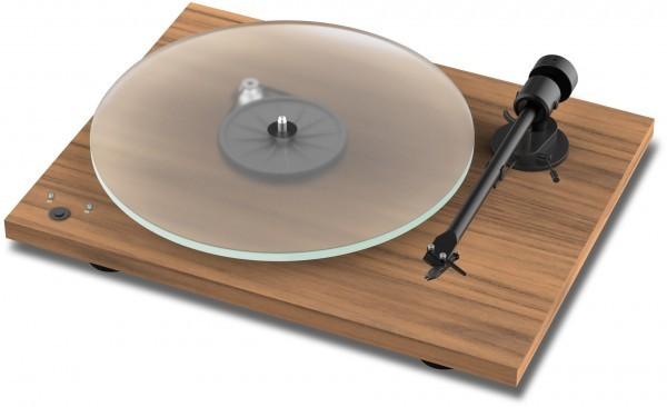 Plattenspieler T1 Phono SB mit Ortofon OM 5 E seidenmatt lackiert in Walnuss von Pro-Ject