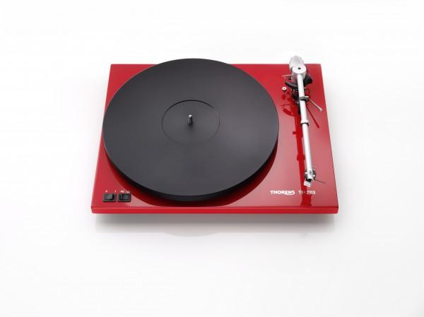Thorens TD 203 hochglanz rot manueller Plattenspieler