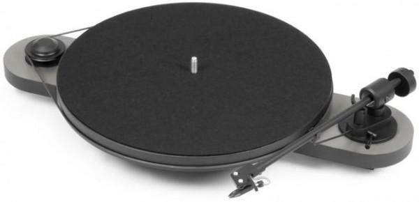 Plattenspieler Elemental mit Ortofon OM 5 E glänzend silber-schwarz von Pro-Ject