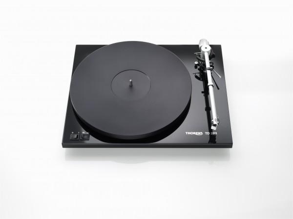 Thorens TD 203 Plattenspieler Hochglanz schwarz mit vormontiertem MM-Tonabnehmer
