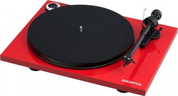 Plattenspieler Essential III mit Ortofon OM 10 hochglanz Rot von Pro-Ject