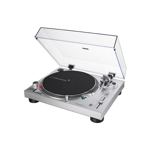 Audio Technica AT-LP120X Direktangetriebener Plattenspieler (Analog & USB) silber