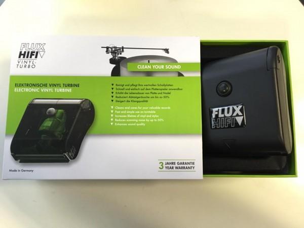 FLUX-Hifi Vinyl-Turbo Carbonbürste mit einer integrierten, extrem leistungsstarken Absaugung