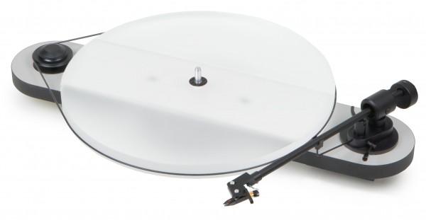 Plattenspieler Elemental Esprit Phono USB mit Ortofon OM 5 E glänzend silber-schwarz von Pro-Ject