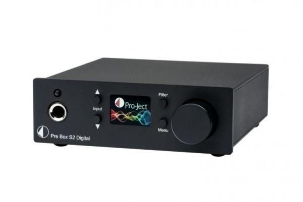 Pre Box S2 Digital Digital Mikro-Vorverstärker mit MQA und DSD512 Support von Pro-Ject schwarz