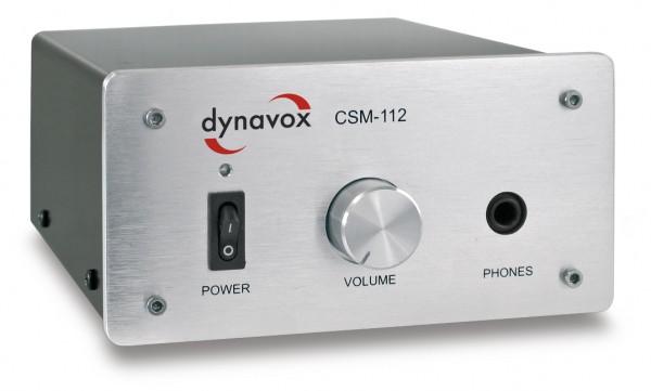 Dynavox CSM-112 Kopfhörerverstärker silber