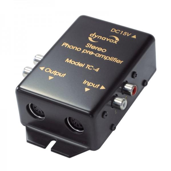 Dynavox Phonovorverstärker schwarz für Plattenspieler