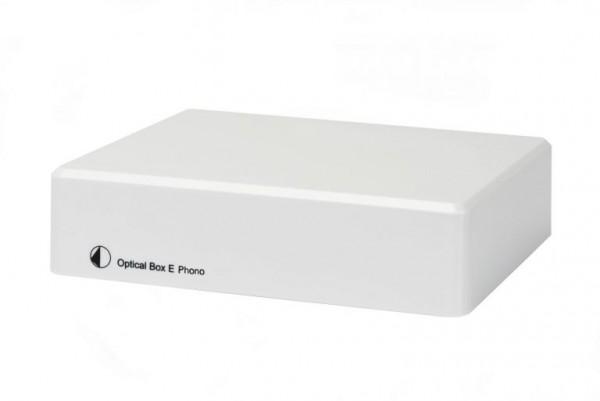 Optical Box E Phono Vorverstärker mit A/D Konverter & Line In/Out von Pro-Ject weiß