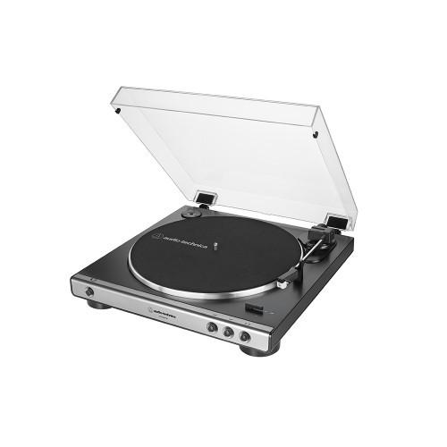 AT-LP60XUSB Vollautomatischer Stereo-Plattenspieler mit Riemenantrieb (Analog & USB) Farbe Silber