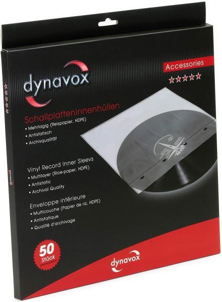 Dynavox Schallplatten-Innenhülle 50er Pack, klar, Archiv-Qualität, Vinylhüllen für LPs