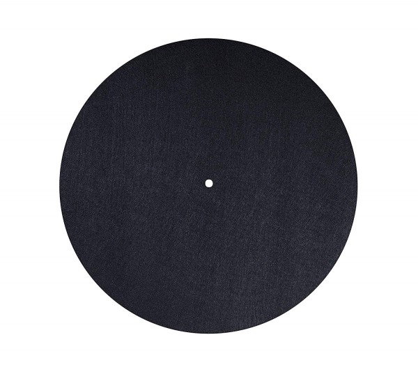 Filzmatte Plattentellerauflage PM2 Filz schwarz, antistatisch, Durchmesser 300 mm, Höhe 3 mm