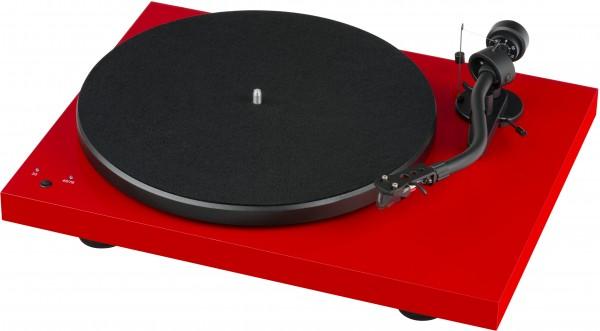 Pro-Ject Debut SB S-Shape mit Ortofon 2M Silver glänzend rot