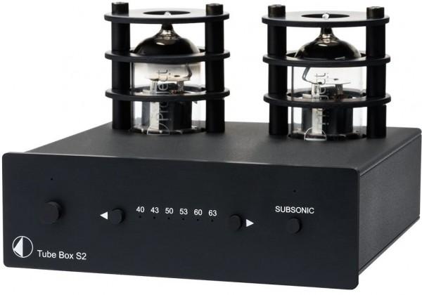 Tube Box S2 High End Röhren Phono-Vorverstärker von Pro-Ject schwarz
