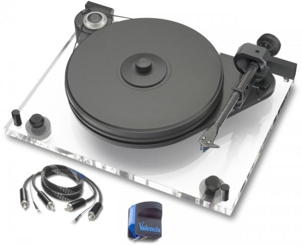 Plattenspieler PerspeX Anniversary mit Ortofon MC Valencia Classic Phono RCA-CC Kabel Acryl von Pro-
