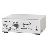 Dynavox Phono-Vorverstärker mit USB/UPR-2.0 Silber