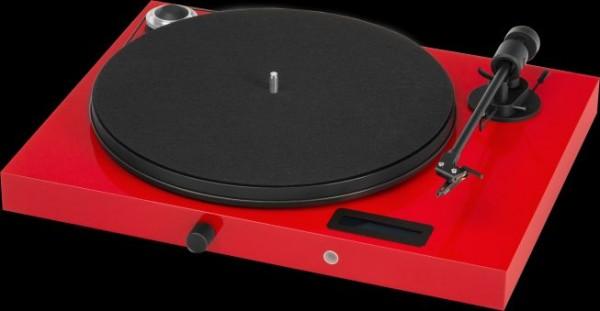 Plattenspieler Juke Box E mit Ortofon OM 5 E hochglanz Rot von Pro-Ject