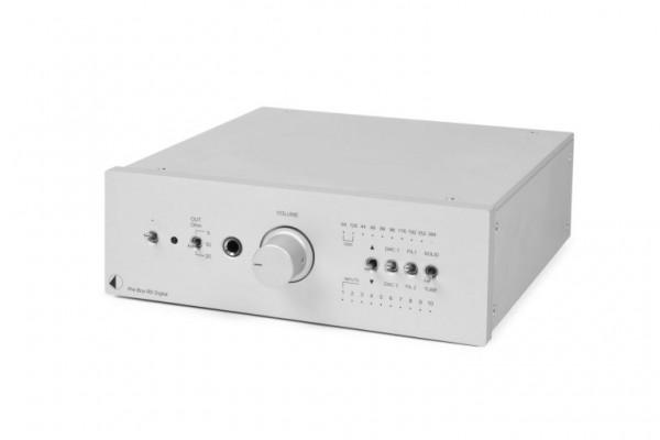 Pre Box RS Digital Highend Vorverstärker, D/A-Wandler, Kopfhörerverstärker von Pro-Ject silber
