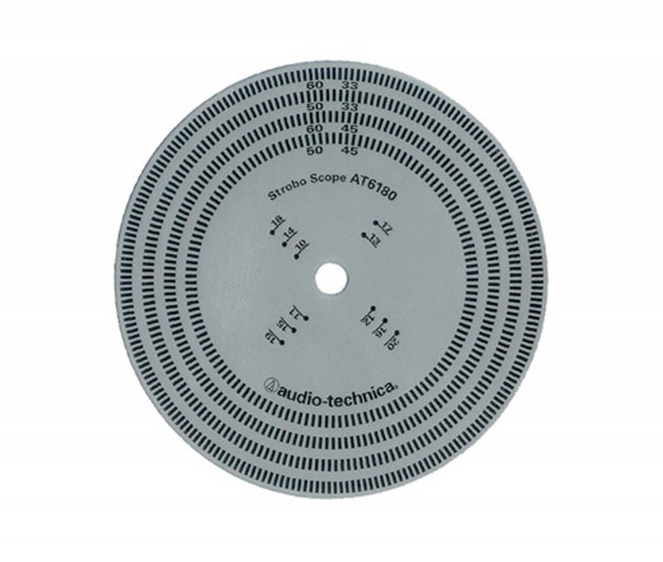 Stroboskopscheibe (50/60 Hz) 33/45/78 U/min Audio Technica
