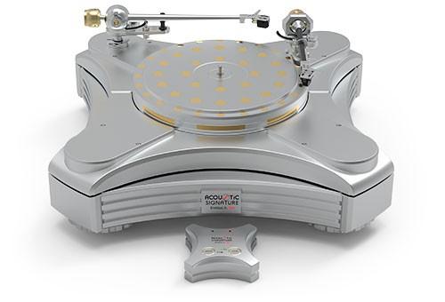 Plattenspieler INVICTUS JR. NEO Silber ohne Tonarm & System von Acoustic-Signature