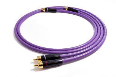 Purple Rain Chinch-Kabel MD2R05 2 x 0,5 m, 24 Karat vergoldete Vollmetallstecker