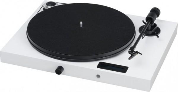 Plattenspieler Juke Box E mit Ortofon OM 5 E hochglanz weiß von Pro-Ject